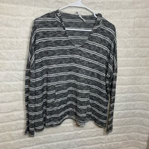 Urban Outfitters Out From Under Grey Stripe Hoodie